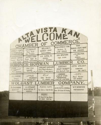 Alta Vista Ball Park Scoreboard Sign