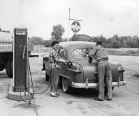Ross Brown Oil Company Derby Gas Station