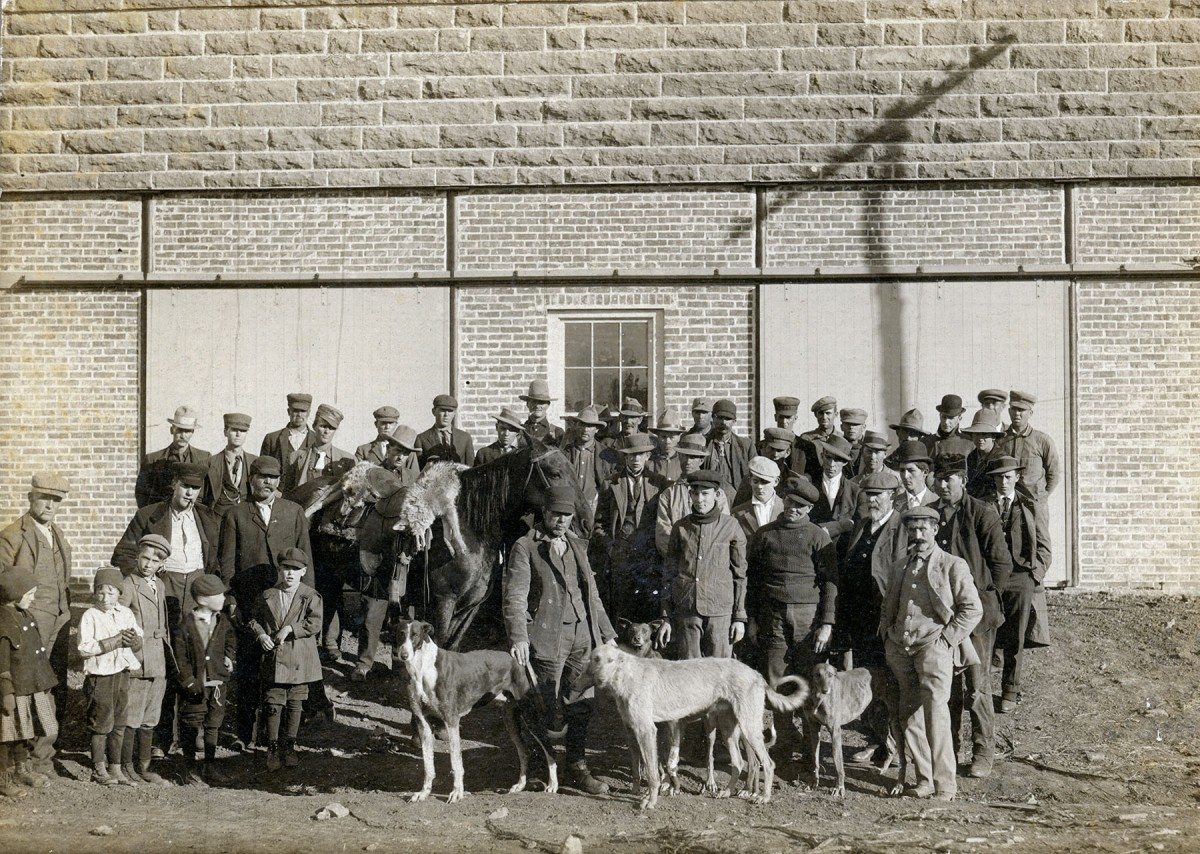 Coyote Hunters at Maple Hill Blacksmith Shop after Hunting