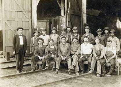 Chicago, Rock Island & Pacific Railroad Roundhouse Gang, McFarland, Kansas - c.1910
