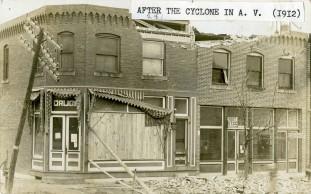 Alta Vista Post Office and Drug Store After Tornado - c.1912