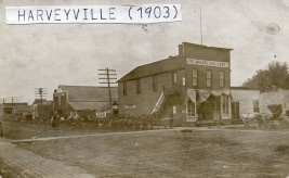 Joe McClure, General Merchandise, Harveyville, Kansas - c.1910