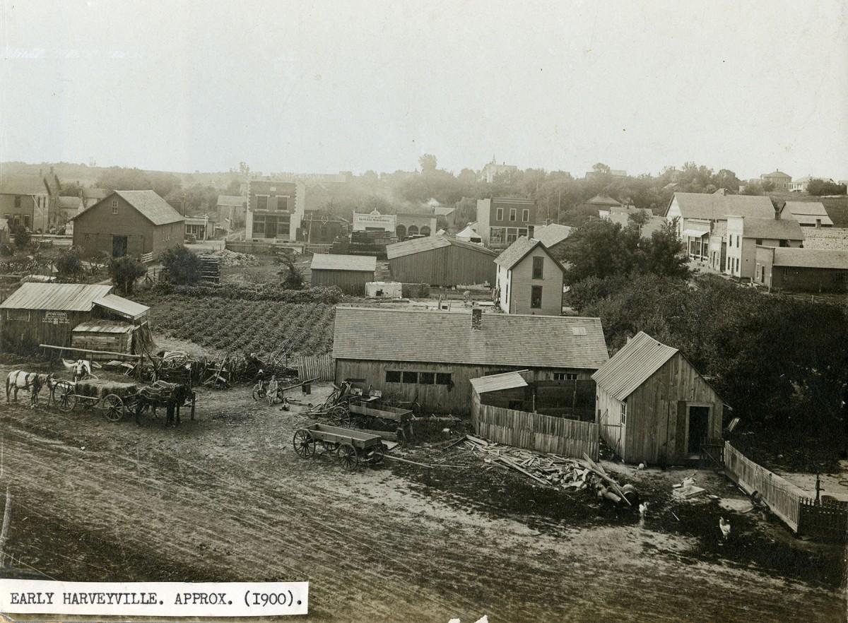 Harveyville, Kansas Business District