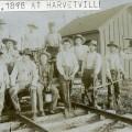 Railroad Construction at Harveyville, Kansas – c.1880