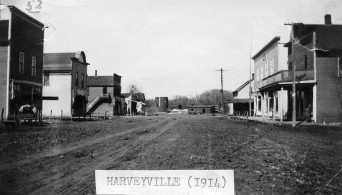 Main Street, Harveyville, Kansas - 1914