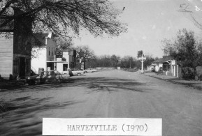 Main Street, Harveyville, Kansas - 1970
