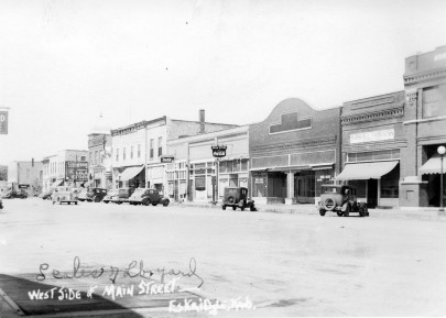 West Side, Main Street, Eskridge, Kansas - c.1940