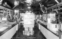 Interior View, E.R. Brown's Drug Store, Eskridge, Kansas