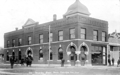 Security State Bank, Waugh Building, Eskridge, Kansas