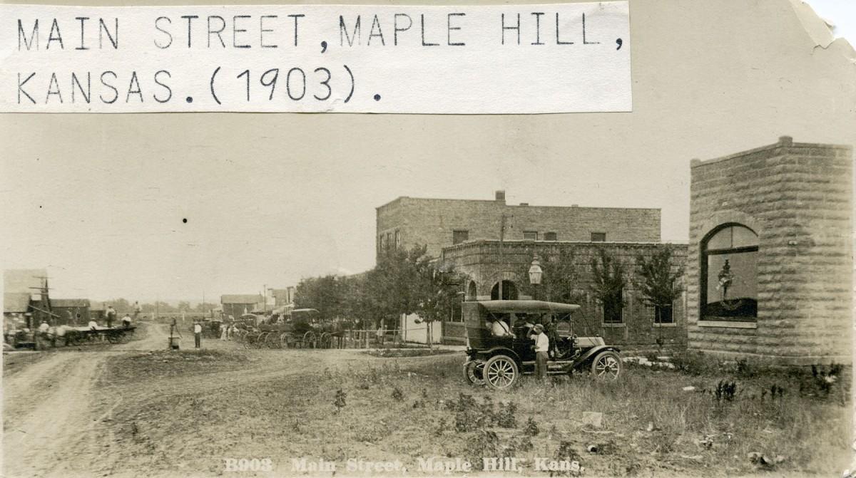 200 Block and Main St. - c.1910
