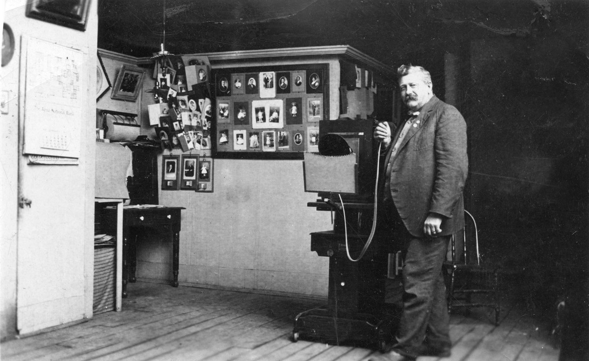Gus Meier in Alma, Kansas Studio