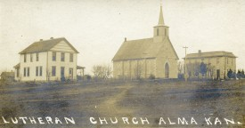 St. John Lutheran Church, Alma, Kansas - c.1907