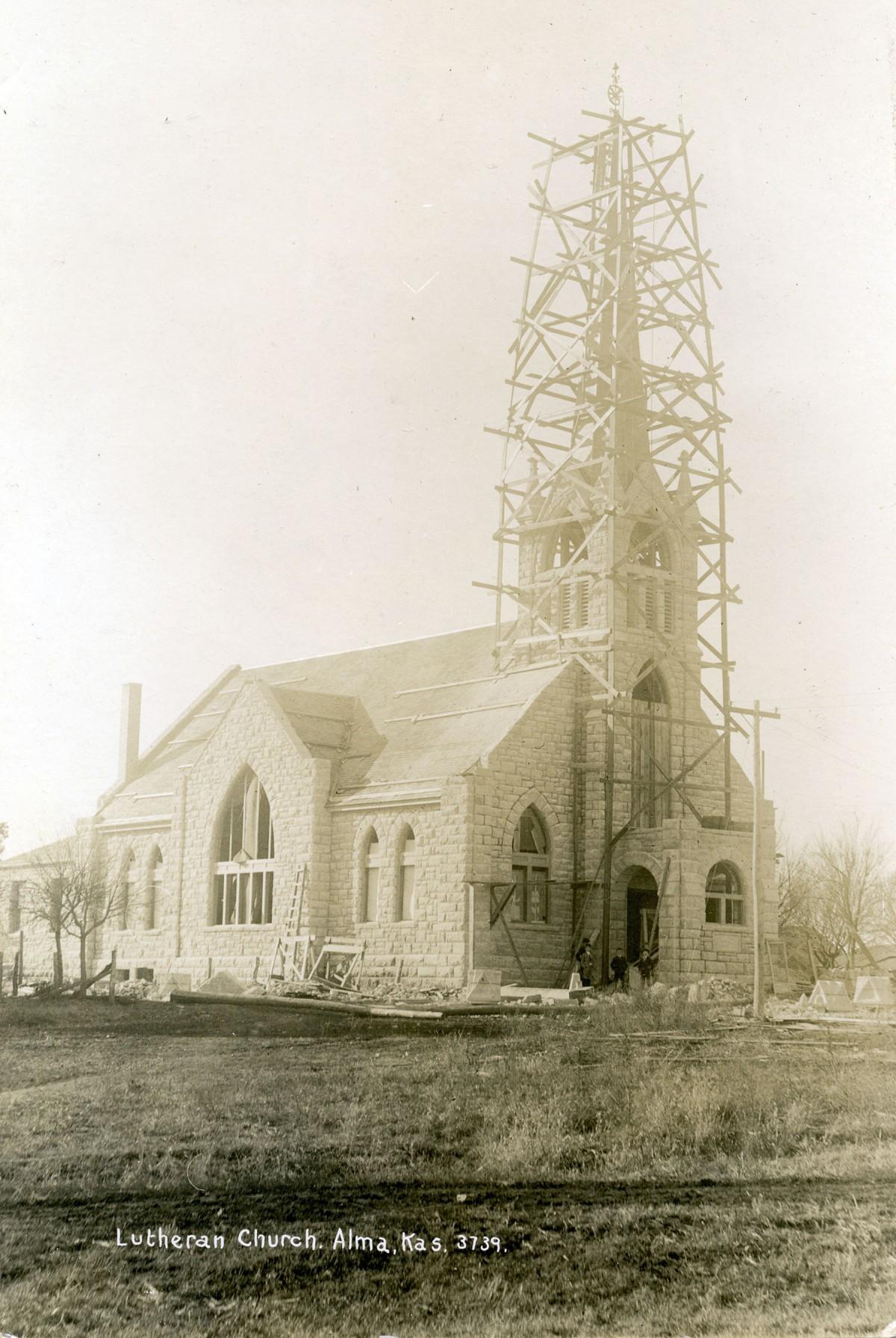 St. John Lutheran Church Under Construction - c.1907