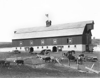 The Henry Sump barn, seen here, was constructed of solid walnut, cut on the site, along with native limestone quarried locally. Sump was struck by lightning and died at his ranch in 1920 while operating a manure spreader.