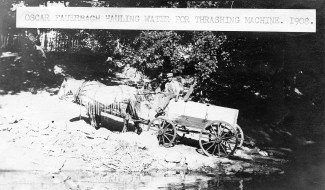 Oscar Fauerbach Hauling Water for Steam Threshing Machine