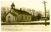 The old District 15 school at Dover, Kansas was photographed for this real photo postcard, circa 1910. Photo Courtesy Greg Hoots.
