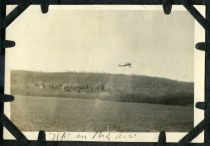 Topeka aircraft manufacturer Albin Longren conducted thousands of exhibition flights in the 1910s and 1920s, the proceeds from which he funded is aircraft manufacturing plant in Topeka. In this ultra rare view, Longren's Model AK is seen airborne. Photo Courtesy Keith Schultz.