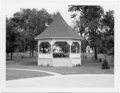 This photograph of the City Park bandstand in Eskridge, Kansas was taken by longtime Eskridge businessman, Dean Dunn.