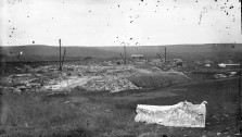 Gus Meier created this only known photo of the Fox Quarry at Alma, Kansas between 1891 and 1899. The quarry was located three miles west of Alma, just north of the Dieball ranch. Photo courtesy Paul Gronquist.