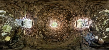 Tom Parish's 360-degree view of the interior of the kiln and its smokestack gives a unique view of the structure.