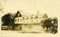 The Paxico Hotel, located at 201 Newbury in Paxico, was originally located mile north in the town of Newbury but was moved a mile south to the new town of Paxcio. This real photo postcard dates from about 1910. Photo courtesy Greg Hoots