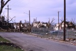 Houses in the Central Park neighborhood of Topeka were demolished by the winds from the 1966 Topeka tornado.