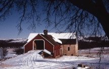 This view of the J. L. Schepp barn, located on Illinois Creek Road, was taken by Charles Herman in the 1970s.