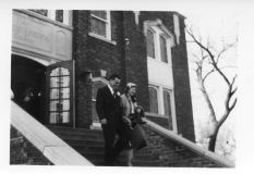 Dean Dunn took this photo of Bing and Barbara Miller emerging from the Methodist Church on the occasion of their wedding on April 9, 1955.