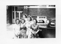 Five unidentified girls from the Eskridge Class of 1944 enjoy Senior Skip Day.
