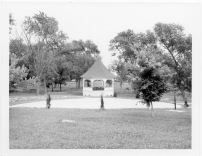 Dean Dunn took this photograph of the bandstand at the Eskridge City Park in the mid-1960s.