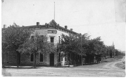 The Alma Hotel was owned and operated by Theresa Horne when this real photo postcard was created in about 1908.