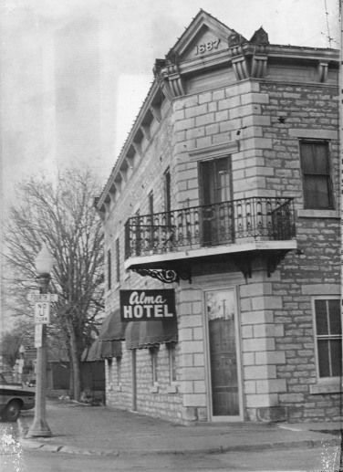 The Alma Hotel was featured in numerous newspaper feature stories during the early 1970s when this view was taken.