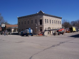 Significant restoration to the masonry work of the Alma Hotel was completed in 2011 shortly after this photo was taken.