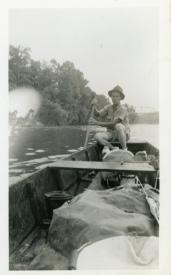 Carl Hoots on the Current River, Van Buren, Missouri, 1938.