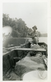 Carl Hoots on the Current River, Van Buren, Missouri, 1938.