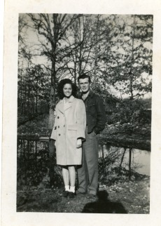 Frances and Carl Hoots in West Plains, Missouri, 1945.