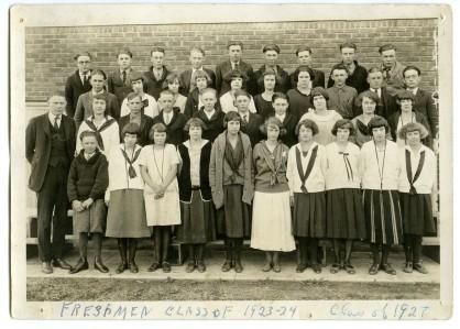 Freshman Class of 1923-1924, the Class of 1927.