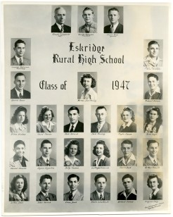 Eskridge Rural High School, Class of 1947
