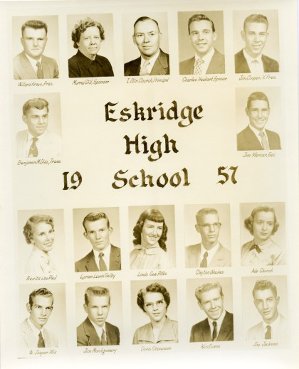 Eskridge Rural High School, Class of 1957