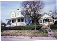 This photo shows the home of Dr. William Walker and his wife, Evelyn, in Eskridge, Kansas. Dr. Walker's office was located in the small brick building.
