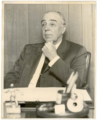 "This photo was Fred C. Palenske's official ""retirement photo"", dated December, 1962. Photo courtesy the Palenske family."