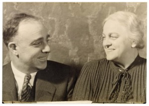 Fred and Maud Palenske pose for a photographer in this view, circa 1945. Photo courtesy the Palenske family.