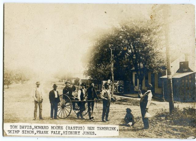 Alma men with donkey cart c1897 a