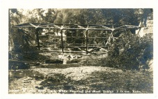 This real photo postcard of the collapse of a bridge under construction at Dover was produced by M. L. Zercher Book and Stationery, circa 1908.