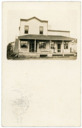 J. W. Winter operated a general store in this building at Dover, Kansas when this real photo postcard was created in about 1908.