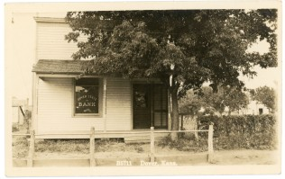 The Dover State Bank was located on S.W. 57th Street,next to Winter's store, when this photo was taken in about 1908.