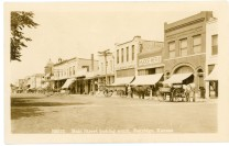 This view of west side of Main Street in Eskridge looks to the south in a view from about 1908.
