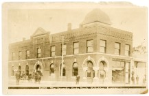This postcard view of the Security State Bank in Eskridge bears a 1911 postmark.