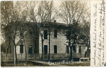 This postcard, dated 8-8-1906, shows the Eskridge Bible School. Notice that this card has an undivided back.