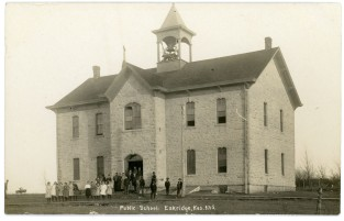 This C. U. Williams real photo postcard shows the Eskridge Public School in about 1910.